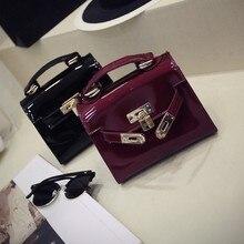 New 2016 Temperament joker handbag The European and American style vintage bag Lock glossy women's fashion bag cute bag