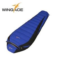 WINGACE Füllen 2500G Mumienschlafsack Erwachsene Weiße Ente Unten Winter 320 T Nylon Wasserdichte Outdoor-Camping Wandern Schlafen tasche
