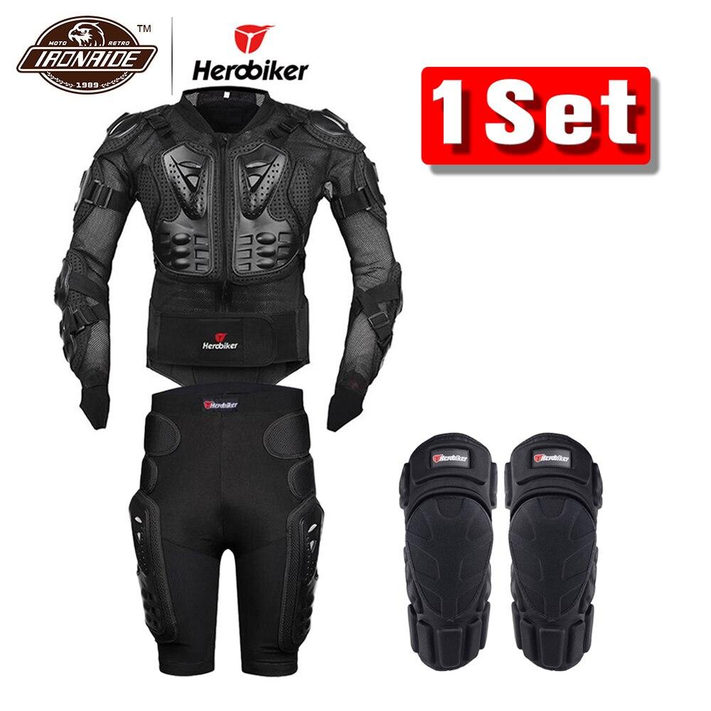 Herobiker veste de Moto Moto armure de Protection équipement de Protection genouillères pantalon de Moto Motocross Shorts de course