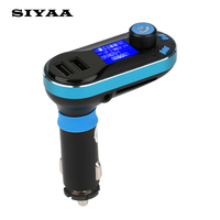 2017 Hot Sale SIYAA BT66 Wireless Handsfree Bluetooth USB Dual 2.1A USB Car Charger Car Kit FM Transmitter MP3 Player