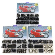 Fit For Ducati 749 999 Motorcycle Fairing Accessories Complete Full Bolts Kit Bodywork Washer Speed Nut OEM Style Steel