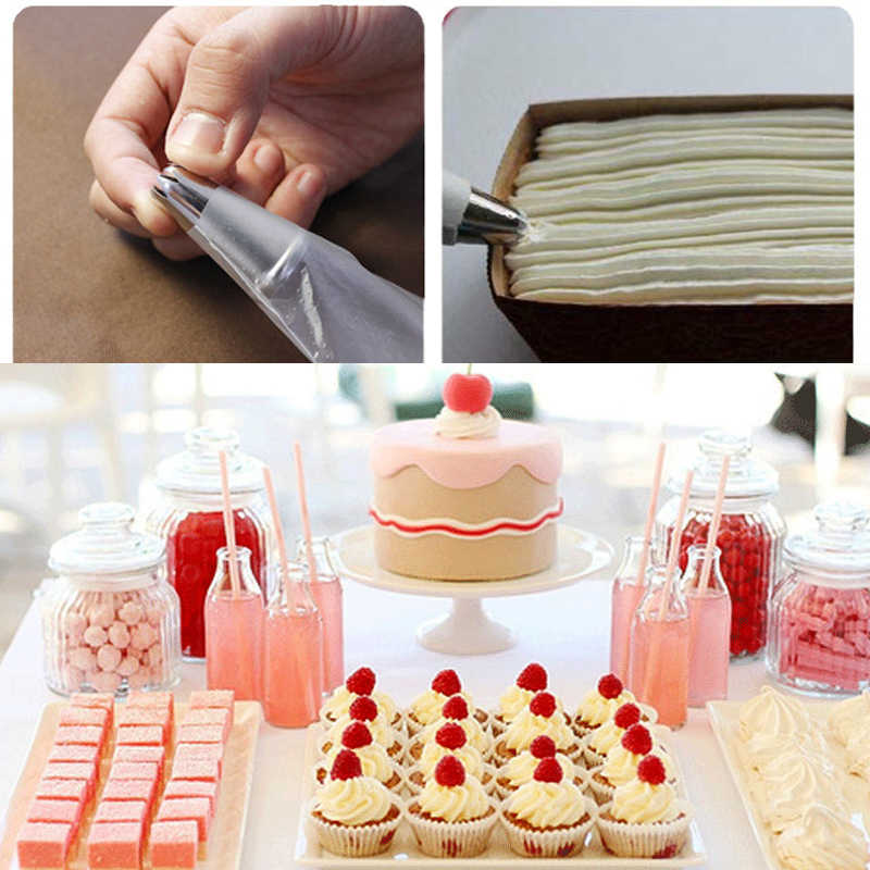 20Pcs/Lot, Food Grade Plastic,Disposable Piping bag Icing Nozzle Fondant Cake Decorating Pastry Bag Tips Tools