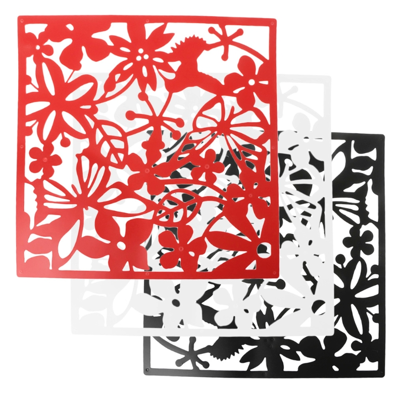 4 Pcs Butterfly Flower Hanging Screen Curtain Room Divider Partition Wall Home