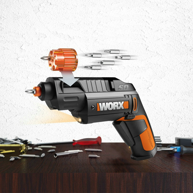 New Arrival WX254 Mini Built in 3.6V/1.5A Lithium Battery Cordless Cordless Screwdriver Switching Power Tool
