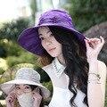 Sun Hat Sunscreen Sunbonnet Hat Female Spring/summer Days Folding Bike Uv Eaves Beach Hat