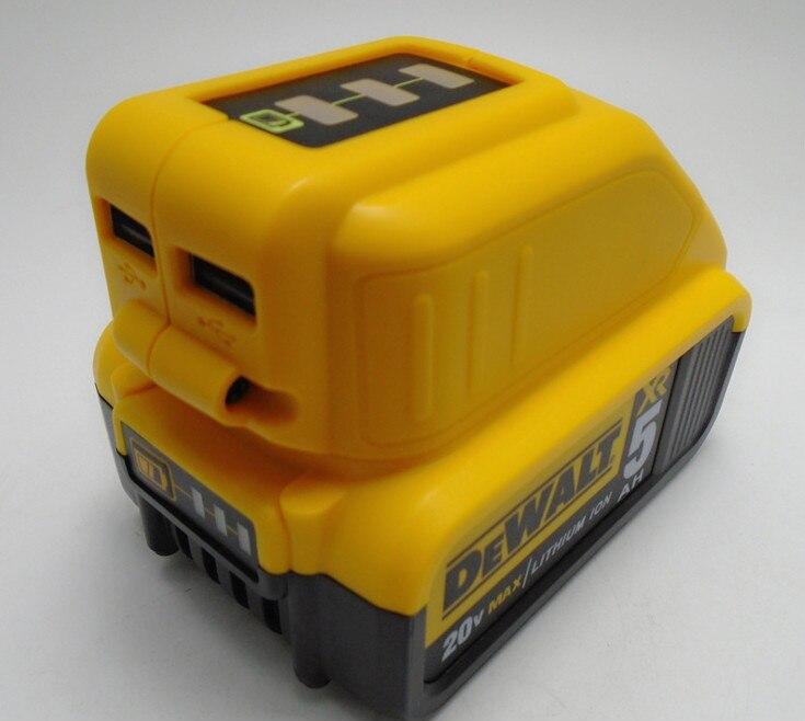 5 В USB Батарея быстро Зарядное устройство для <font><b>Dewalt</b></font> 10.8 В-18 В литий-ионный Батарея dcb120 dcb140 dcb200