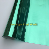Green Silver Mirror Window Foil Tinting Film For Buliding Home Office Size:1.52*30m/Roll