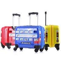 Kinder Koffer kinder Gepäck Reise Trolley Koffer mit rädern Kind schulranzen Junge Mädchen Spielzeug Roll gepäck/box/ lagerung-in Trolleys aus Gepäck & Taschen bei