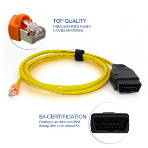 Image 2 - 3pcs/lot ESYS Data Cable ENET Ethernet to OBD E SYS ICOM Coding for F serie car diagnostic tool Cable