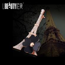 UBEAUTY Crystal Rhinestone Women Brooches For Women Dress Scarf Brooch Pins Jewelry Accessories Gift Eiffel Tower Brooch