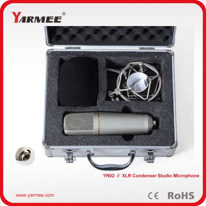Electret microphone uni-directional wired condenser microphone YR02 sf 666 3 5mm audio jack wired condenser microphone