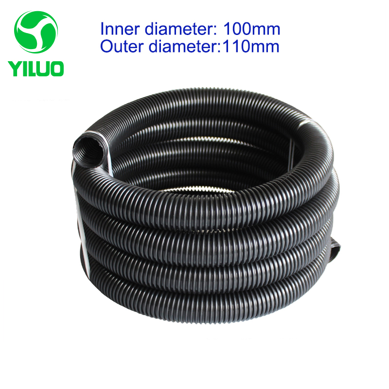1m Inner Diameter 100mm Black High Temperature Flexible EVA Hose of Vacuum Cleaner supply equipment of drainage/marrine vacuum pump inlet filters f007 7 rc3 out diameter of 340mm high is 360mm