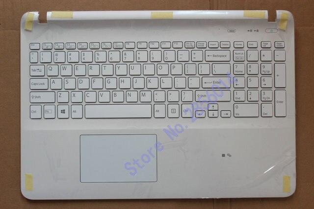 US laptop keyboard for sony SVF15 SVF152 SVF153 SVF1541 SVF15E With backlight Touchpad Palmrest Cover white стоимость