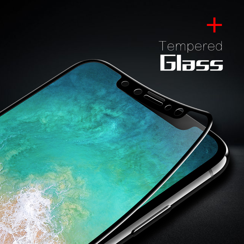 GerTong Screen Protector Toughened Glass For iPhone XR XS Max X 8 7 6 6s Plus 5S SE Premium Tempered Glass For iPhone XS XR Film
