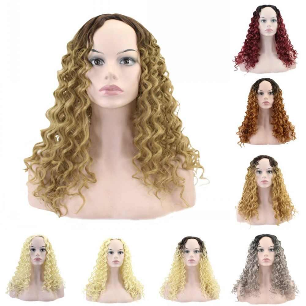 JOY & BEAUTY Волосы средней длины красный черный серый афро парик курчавые кучерявые парики для черных женщин блонд смешанный коричневый 280 г синтетические парики