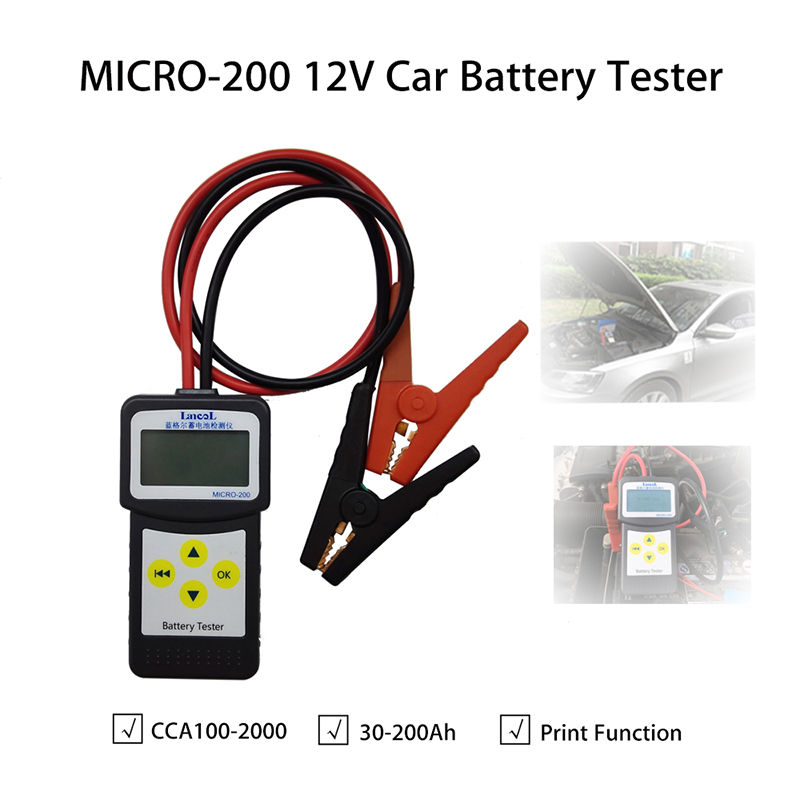 ФОТО MICRO-200 Car 12V Vehicle Battery Analyzer Testers Diagnostic Tool Portable Hot Free shipping