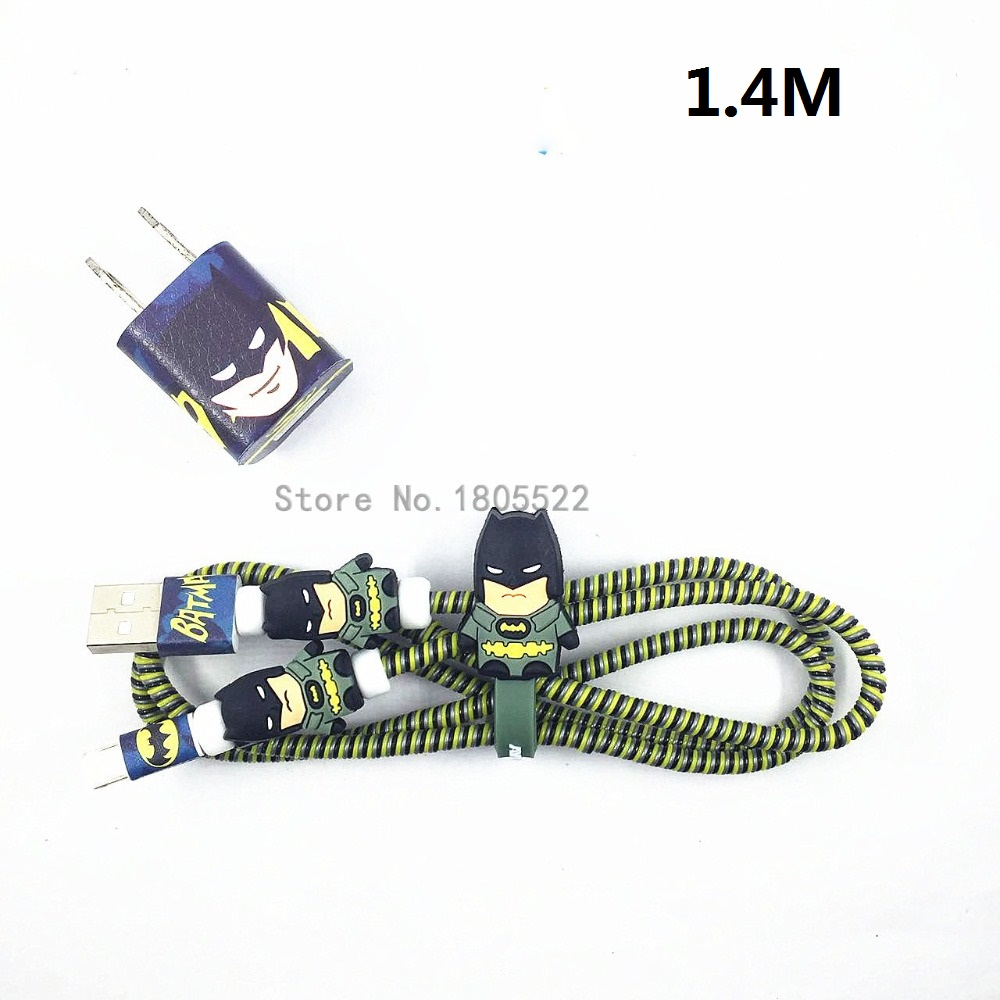 HTB1.7JSdNSYBuNjSsphq6zGvVXat 1 Set Cartoon USB Cable Protector Cable Winder Charger stickers Cable Wire Organizer TPU Spiral Cord protector For iphone 5 6 7