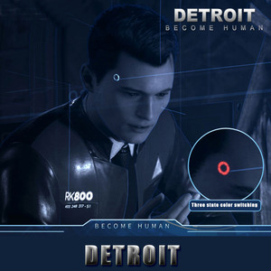 Image 2 - Detroit: Become Human Cosplay Connor RK800 Sans Fil Temple LUMIÈRE LED Kara Létat Scintillation Lampe Anneau Cercle Tête LED ACCESSOIRES
