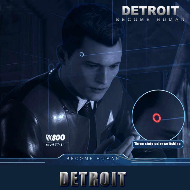 Detroit: Become Human Cosplay Connor RK800 Sans Fil Temple LUMIÈRE LED Kara L'état Scintillation Lampe Anneau Cercle Tête LED ACCESSOIRES