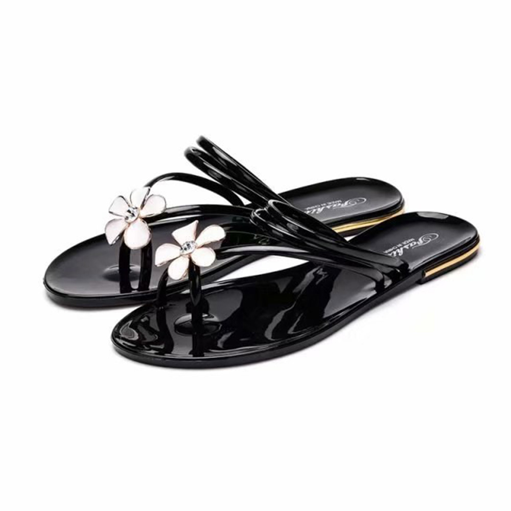 6c2ab1f13ad17 Detail Feedback Questions about Trendy Women Sandals Flower Rhinestone  Jelly Shoe Ring Toe Cross Strap Flip Flops Flats Slip On Casual Flats  backless ...