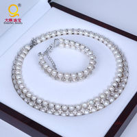 Daking REAL PEARL AAA Grade Quality Bridal Jewelry Set Pearl Necklace Bracelet Wedding Supplies