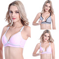 100% Cotton Women's Seamless Nursing Maternity Bra Push Up Comfort Sleep Bralette Large size