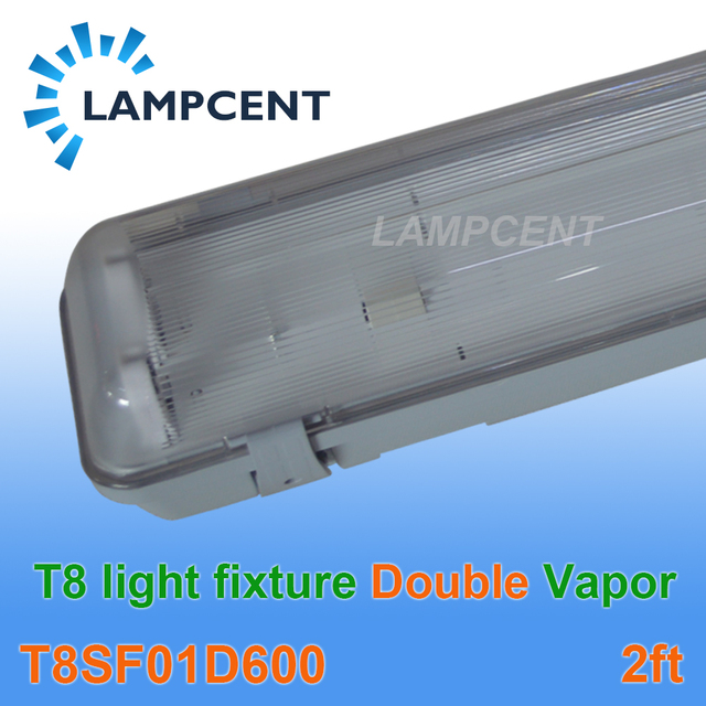 Double Bulb 60cm Vapor Water Tight Ceiling T8 Led Light Fixture Ip65 2ft Fitting