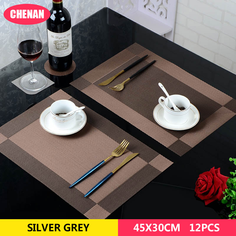 Placemat fashion pvc dining table mat disc pads bowl pad coasters waterproof table cloth pad slip-resistant pad dining table mat