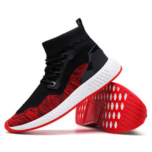 Men Shoes Fashion Men High Help Soft Sole Running Sneaker Outdoor Leisure Soft Shoes Spring Summer Rubber Shoes