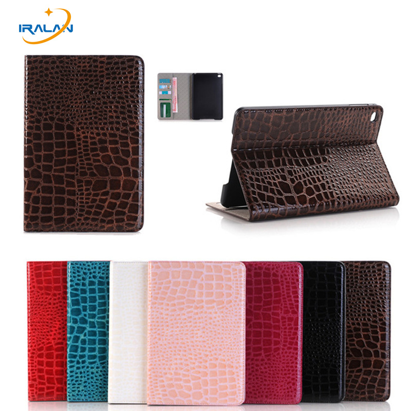 Crocodile Pattern Lightweight Flip PU Leather Case for Apple iPad Pro 12.9 A1584/1652 with wallet Protective Cover+film+stylus protective lichee pattern pu leather flip open case for kobo mini black