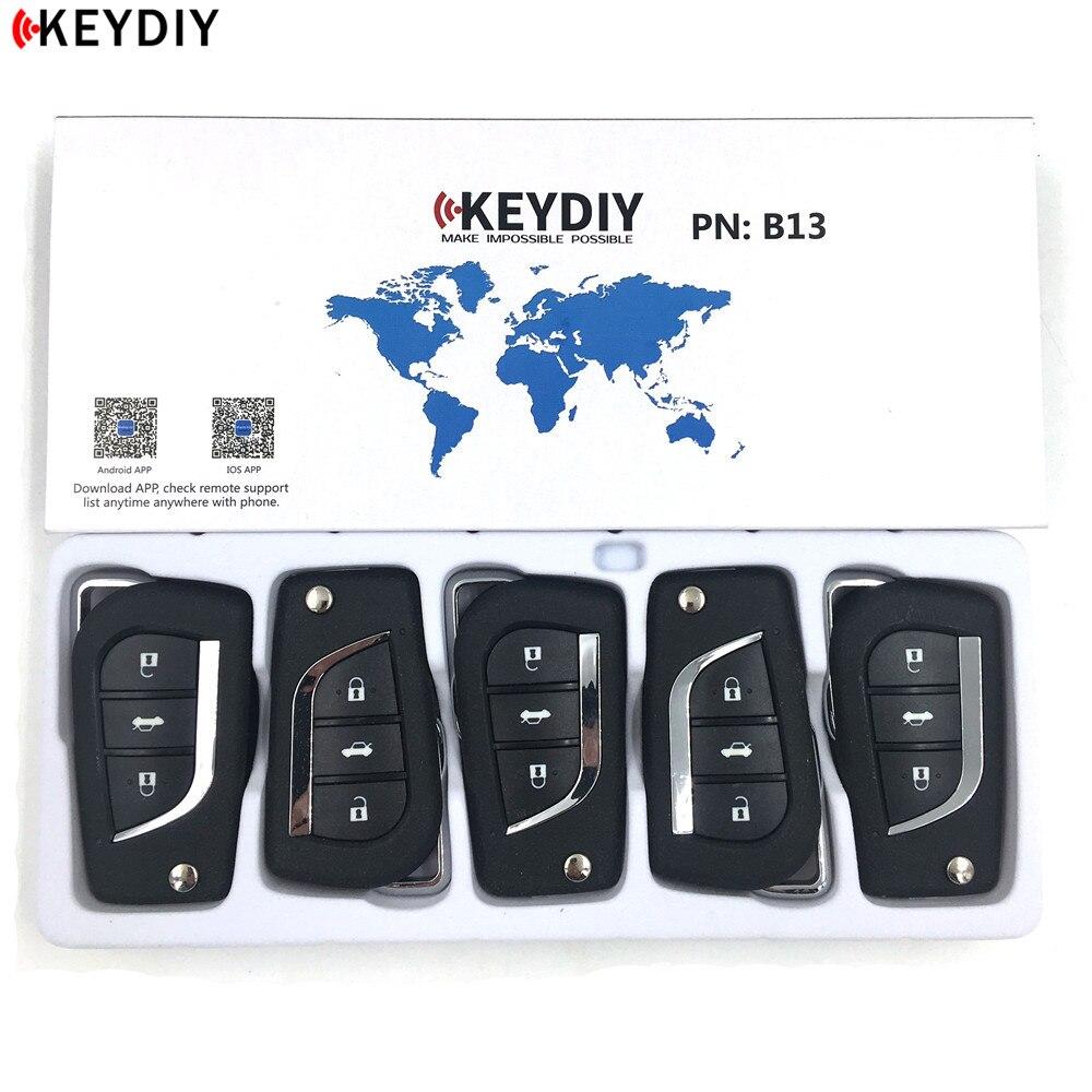 KEYDIYl KD B13 Car Key For KD900/KD MINI/URG200 Key Programmer B Series Remote Control,5pcs/lot