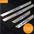 LED Stainless Steel Door Sill Scuff Plate For hyundai i30 2011-2013 car accessories car-styling 3D sticker Car Interior