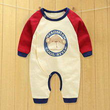 baby clothes new 2016 infant cartoon long sleeve winter rompers,open files cute bear cotton jumpsuits