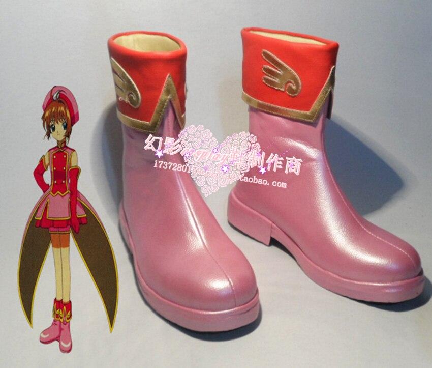 Cardcaptor Sakura Sakura Kinomoto Halloween Pink Cosplay Boots Shoes H016