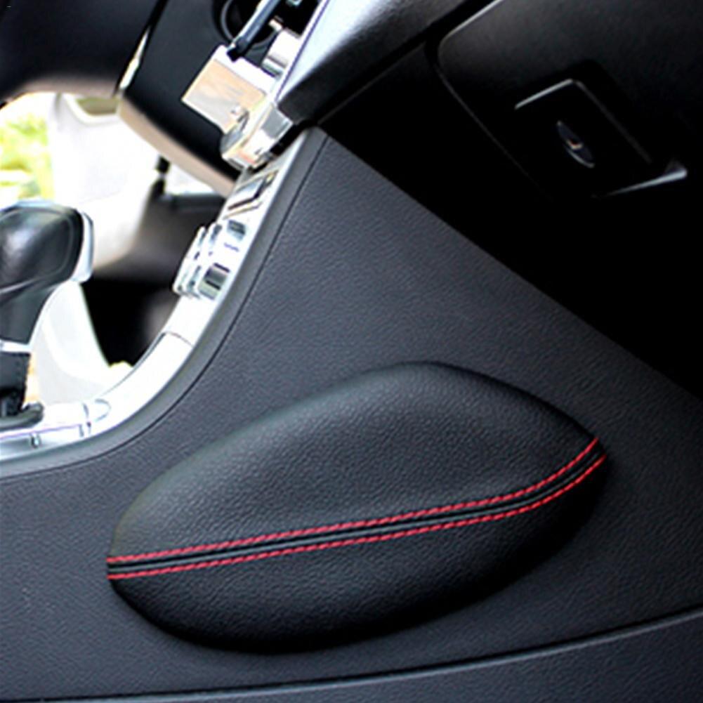 Universal font b car b font seat cushion foot support pillow Leather Leg Cushion Knee Pad