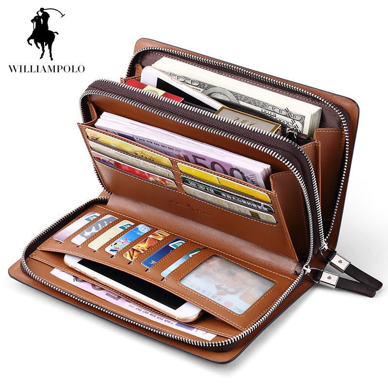 WILLIAMPOLO Fashion Business Design Högkvalitativ Organizer Wallet - Plånböcker - Foto 6