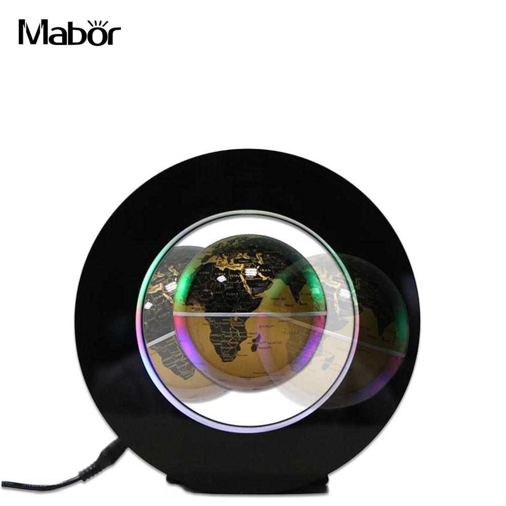 LED Floating Globe Magnetic Levitation Light Magic Lamp Home Decoration UK Plug