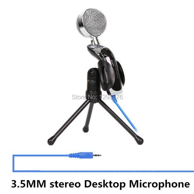 Бесплатная доставка SF-922 3.5 ММ стерео Настольный Микрофон для Портативных ПК Беседа Аудио Запись Конденсаторный Микрофон