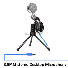 Free shipping SF-922 3.5MM stereo Desktop Microphone for  PC Laptop Chatting Audio Recording Condenser Microphone