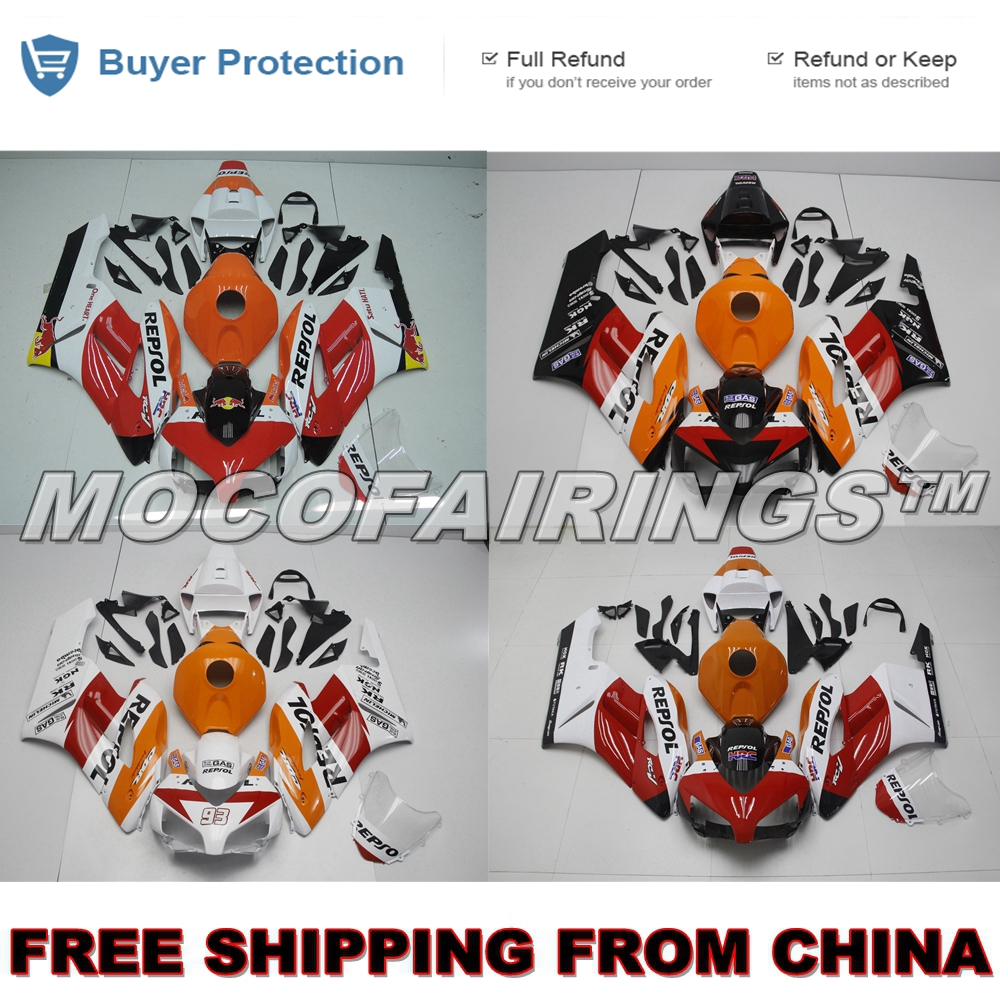 Motorcycle Complete ABS Injection Fairing Kit For Honda CBR1000RR 2004 2005 CBR 1000 RR 04 05 Fairings Kits REPSOL NEW