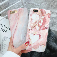 Luxury Marble Phone Case For iPhone 7 Case For iPhone X 7 6 6S 8 Plus 6 S Case Cover XR XS MXA Coque Silicon Fundas Capa Carcasa