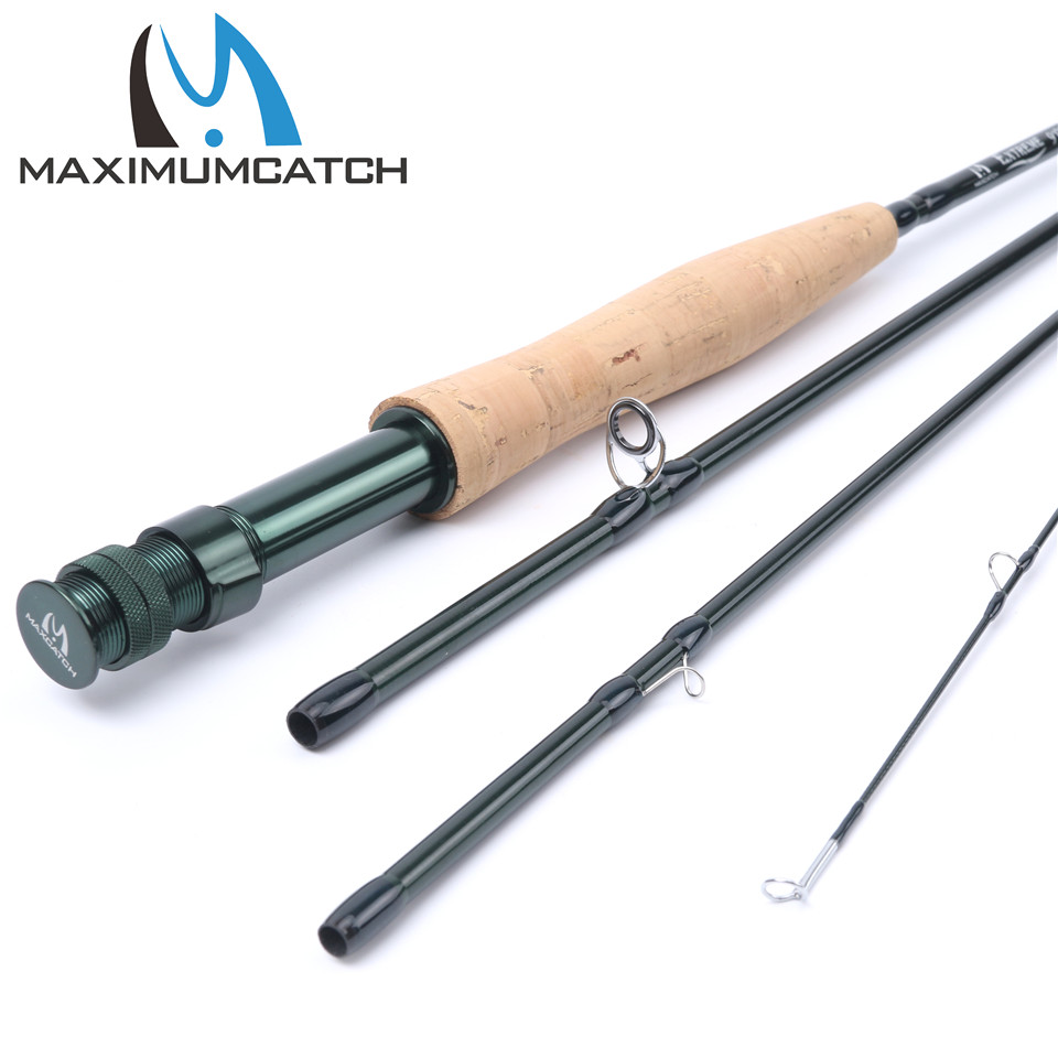Maximumcatch 5wt Fly Rod Medium-fast Fly Fishing Rod (Graphite IM8) & Plastic Rod Tube maximumcatch 8wt fly rod medium fast fly fishing rod graphite im8