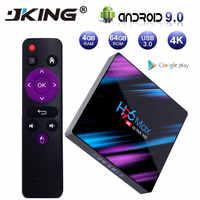 H96 MAX 9.0 di Android TV Box Rockchip RK3318 4 GB di RAM 64 GB H.265 4 K Google Assistente Vocale Netflix youtube 2G 16G Lettore Multimediale