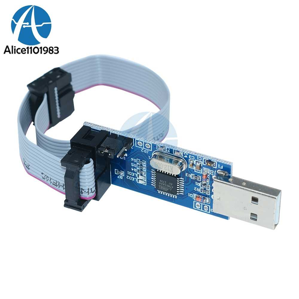 Detail Feedback Questions About Usbasp Usbisp Avr Programmer 10pin Atmega Usb Pcb Component Side Cable Isp Asp Atmega8 Atmega128 Attiny Can Pwm Support