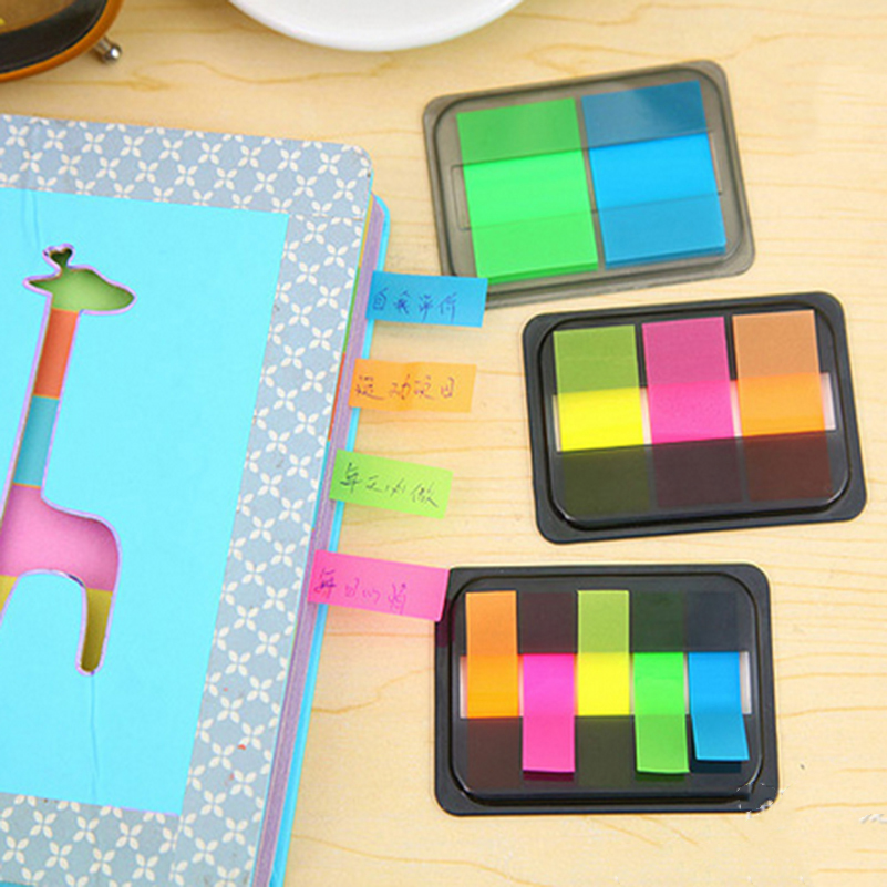 2 Pcs DIY Cute Kawaii Colored Memo Pad Lovely Sticky Paper Post it Note School Office Supplies Stationery