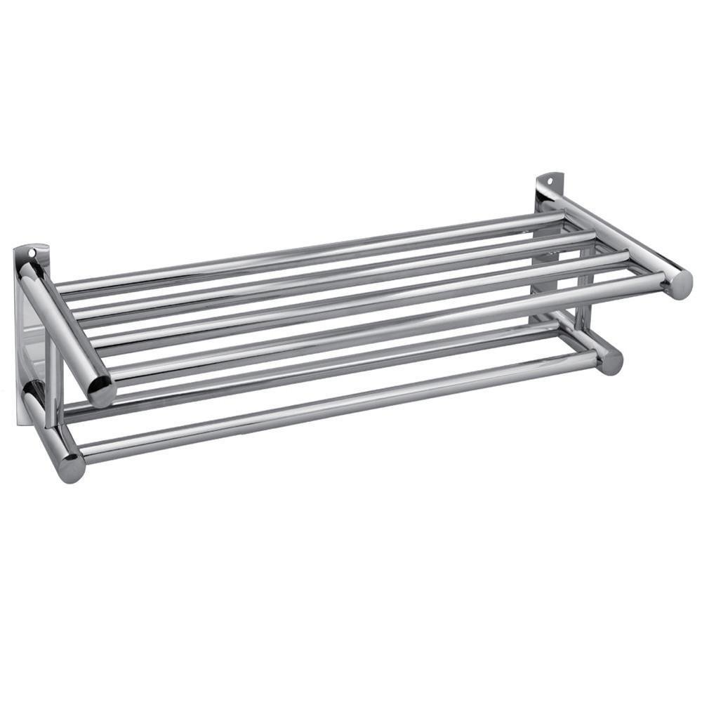 Stainless Steel Double towel Rack holder Wall Mounted Bathroom Towel Shelf Rail Rack Holder 8100 sc 4 zyklop 1 2 wera we 003647