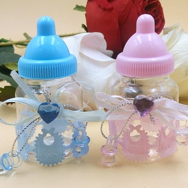 Baby Shower Gift Blue Boy Pink Girl Baptism Christening Birthday Party Favors Gift Favors Candy bottle & Baby Shower Gift Blue Boy Pink Girl Baptism Christening Birthday ...