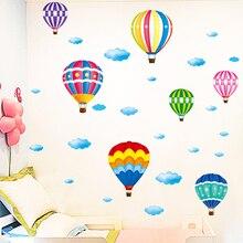 [shijuekongjian] Hot Air Balloon Wall Stickers DIY Cartoon Wall Decals for Kids Rooms Baby Bedroom Shop Glass Decoration [shijuekongjian] hot air balloon wall stickers diy cartoon wall decals for kids rooms baby bedroom shop glass decoration