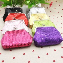 Women Ladies Small Sequin Wallet Coin Purse Credit Card Holder Fashion Party Clutch Girls Handbag Bag Hasp Women Purses Cheap