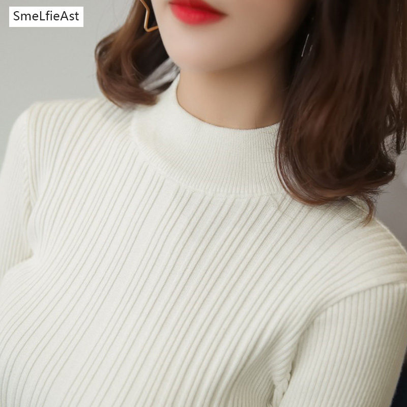 2017SLA Sweater Women Half Turtleneck Pullover Ladies Hot Sale Female Warm Tops Sale Clothing Female Knitted Sweater Office Lady ...